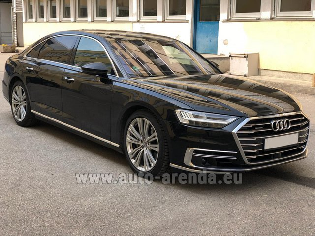 Transfer from Verona to Munich Airport by Audi A8 Long 50 TDI Quattro car