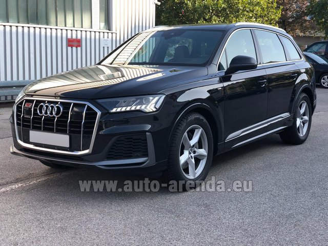 Rental Audi Q7 50 TDI Quattro Equipment S-Line (5 seats) in Positano