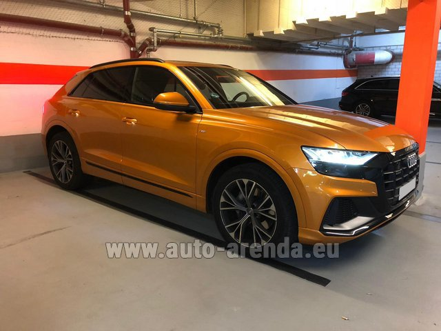 Hire and delivery to Rimini airport the car Audi Q8 50 TDI Quattro