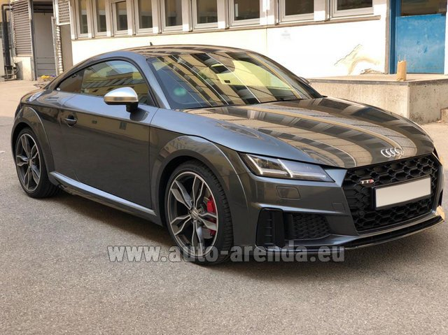 Rental Audi TTS Coupe in Turin