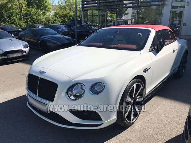 Rental Bentley Continental GTC V8 S in Verona