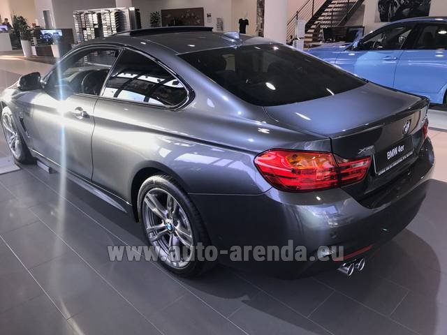 Hire and delivery to Rimini airport the car BMW 420d xDrive Coupe M Sportpaket