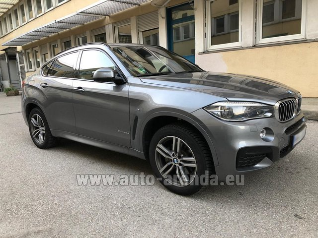 Hire and delivery to Rome-Ciampino airport the car BMW X6 4.0d xDrive High Executive M