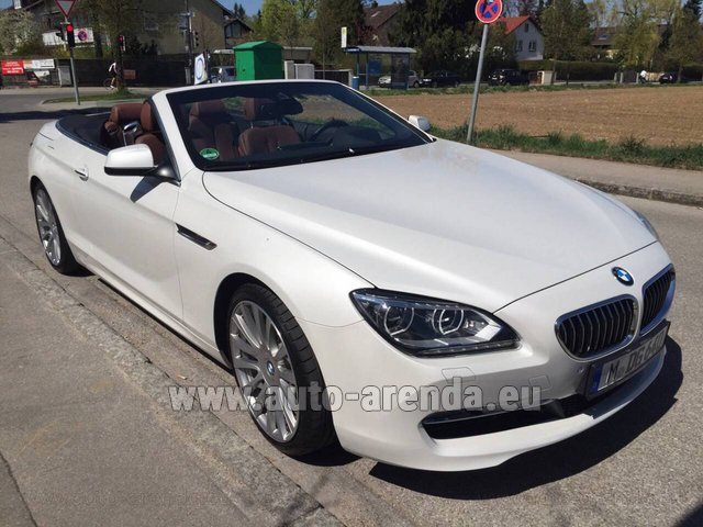 Hire and delivery to Rimini airport the car BMW 640 Cabrio Equipment M-Sportpaket