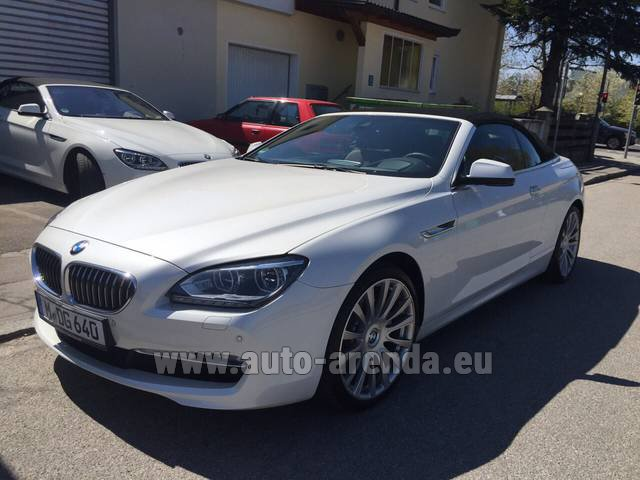 Hire and delivery to Rimini airport the car BMW 640d Cabrio Equipment M-Sportpaket