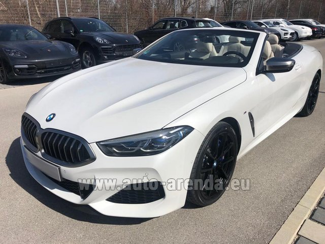 Hire and delivery to Rimini airport the car BMW M850i xDrive Cabrio