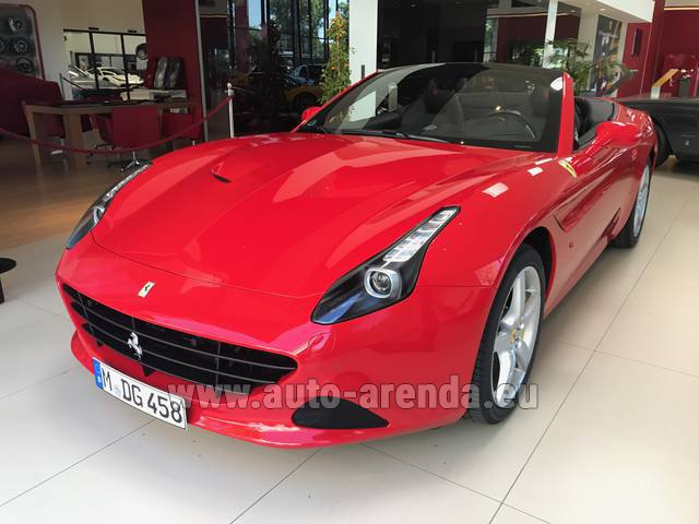Rental Ferrari California T Convertible Red in Positano