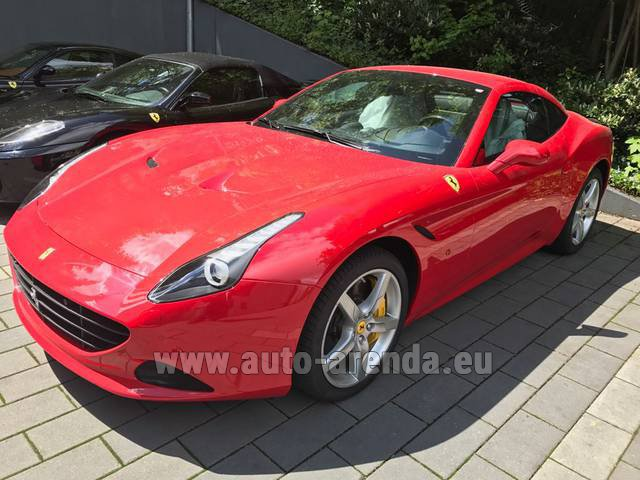 Rental Ferrari California T Cabrio (Red) in Positano