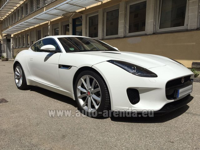 Прокат и доставка в аэропорт Рим-Чампино авто Ягуар F-Type 3.0 Coupe