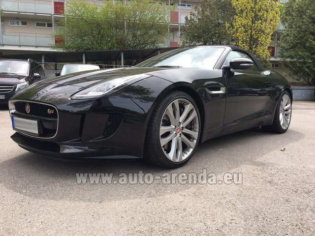 Hire and delivery to Rimini airport the car Jaguar F Type 3.0L