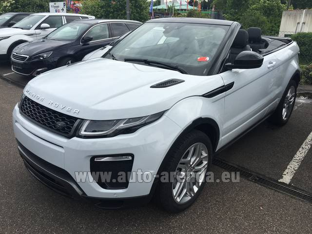 Hire and delivery to Rome-Ciampino airport the car Land Rover Range Rover Evoque HSE Cabrio SD4 Aut. Dynamic