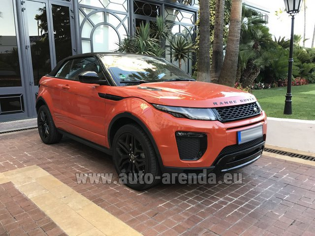 Rental Land Rover Range Rover Evoque HSE Cabrio SD4 in Naples