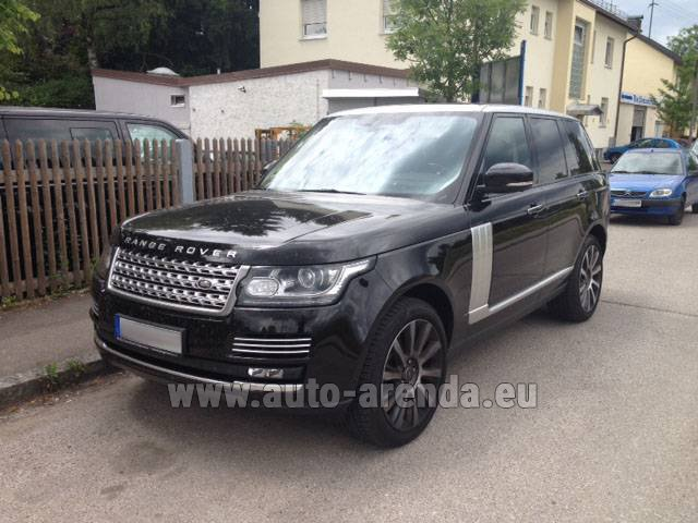 Hire and delivery to Rome-Ciampino airport the car Land Rover Range Rover SDV8 Autobiography