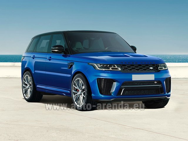 Hire and delivery to Rome-Ciampino airport the car Land Rover Range Rover Sport SVR V8