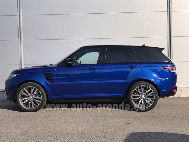 Hire and delivery to Rome-Ciampino airport the car Land Rover Range Sport SVR V8