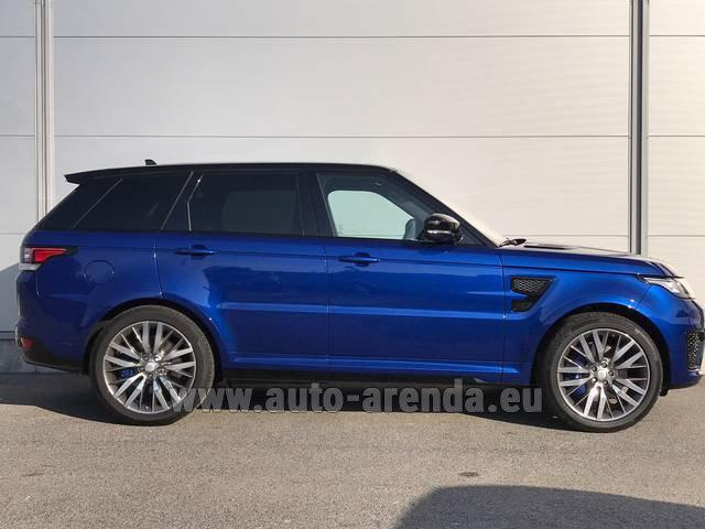 Range Rover Svr Price >> Rent The Land Rover Range Sport Svr V8 Car In Milan