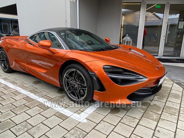 Hire and delivery to Rimini airport the car McLaren 720S