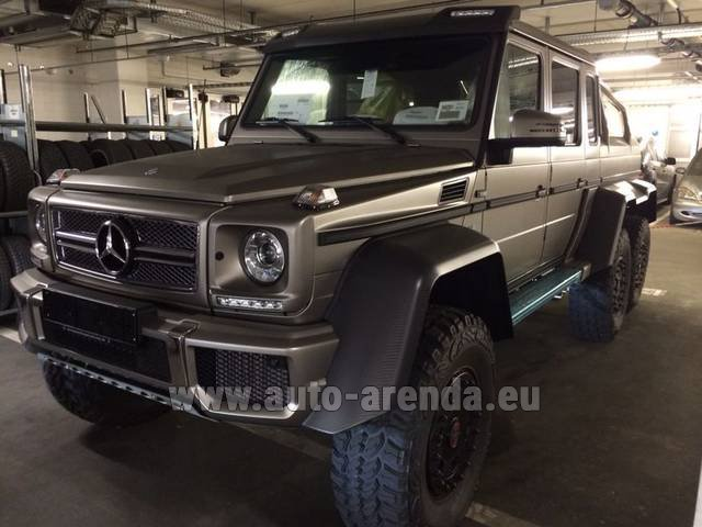 Hire and delivery to Roma-Fiumicino airport the car Mercedes-Benz 6x6 AMG 6.3
