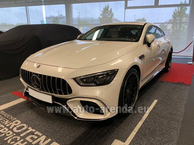 Hire and delivery to Roma-Fiumicino airport the car Mercedes-Benz AMG GT 63 S 4-Door Coupe 4Matic+