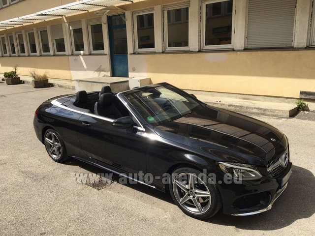 Rental Mercedes-Benz C 180 Cabrio AMG Equipment Black in Positano