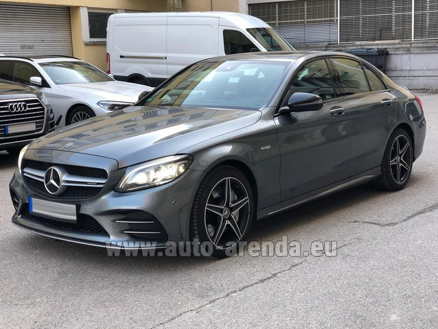 Hire and delivery to Roma-Fiumicino airport the car Mercedes-Benz C-Class C43 BITURBO 4Matic AMG