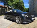 Rent-a-car Mercedes-Benz C-Class C 180 Cabrio AMG Equipment (Black) with its delivery to Venice airport, photo 1