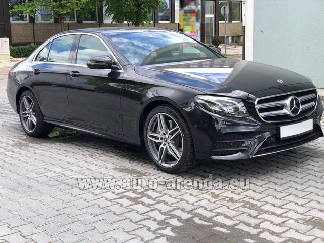 Hire and delivery to Rimini airport the car Mercedes-Benz E 450 4MATIC saloon AMG equipment