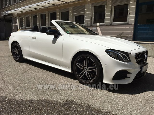 Hire and delivery to Roma-Fiumicino airport the car Mercedes-Benz E-Class E 200 Cabrio
