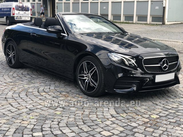 Hire and delivery to Rimini airport the car Mercedes-Benz E-Class E200 Cabrio AMG equipment
