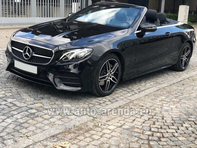Hire and delivery to Rimini airport the car Mercedes-Benz E-Class E220d Cabriolet AMG equipment
