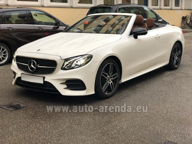 Rental Mercedes-Benz E-Class E300d Cabriolet diesel AMG equipment in Positano