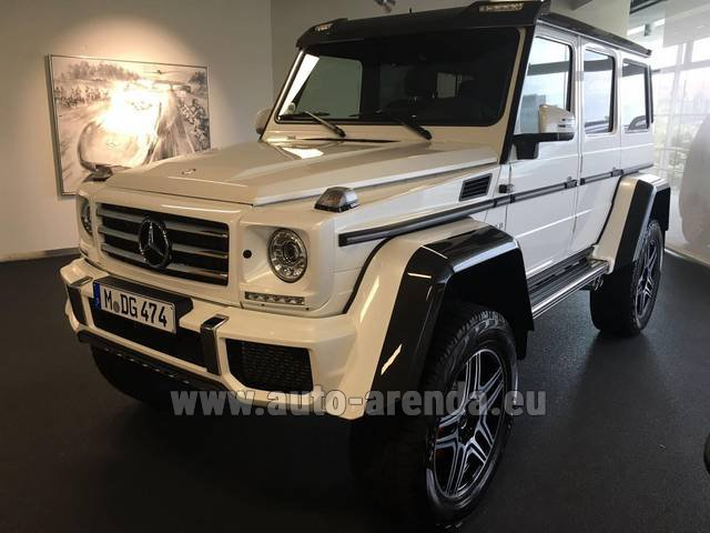 Hire and delivery to Roma-Fiumicino airport the car Mercedes-Benz G 500 4x4 White