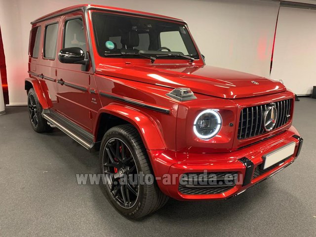 Hire and delivery to Rimini airport the car Mercedes-Benz G 63 AMG biturbo