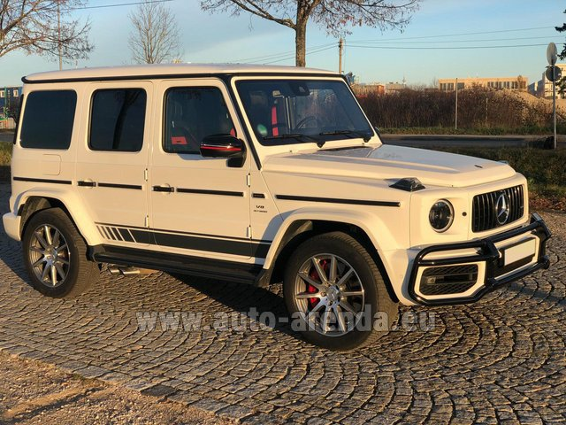 Hire and delivery to Rimini airport the car Mercedes-Benz G 63 AMG White