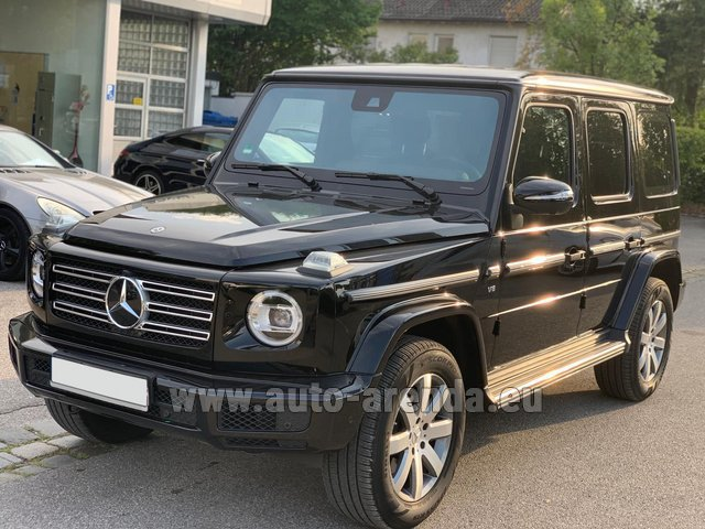 Hire and delivery to Roma-Fiumicino airport the car Mercedes-Benz G-Class G500 2019 Exclusive Edition