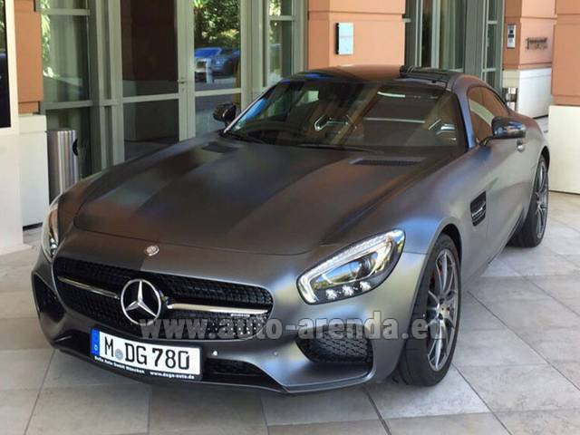 Hire and delivery to Roma-Fiumicino airport the car Mercedes-Benz GT-S AMG