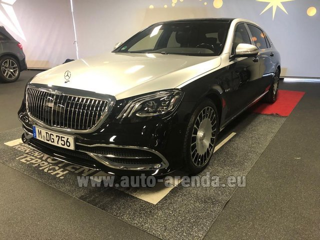 Прокат Maybach S 560 4MATIC комплектация AMG Metallic and Black в Италии