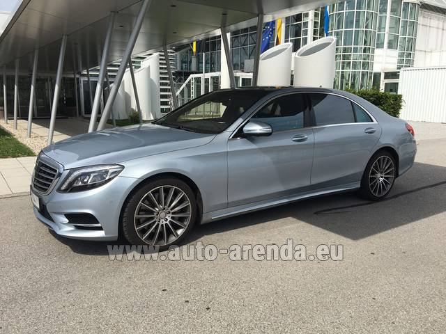 Hire and delivery to Venice airport the car Mercedes-Benz S 350 L BlueTEC 4MATIC AMG