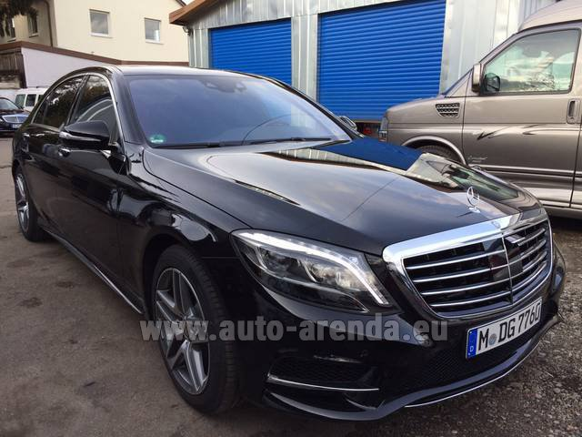 Hire and delivery to Venice airport the car Mercedes-Benz S 350 L BlueTEC AMG Black