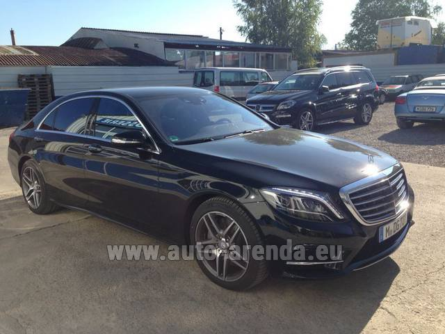 Hire and delivery to Venice airport the car Mercedes-Benz S 350 L BlueTEC AMG