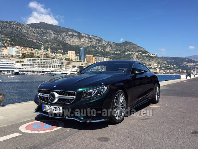 Hire and delivery to Roma-Fiumicino airport the car Mercedes-Benz S 500 Coupe 4Matic 7G-TRONIC AMG