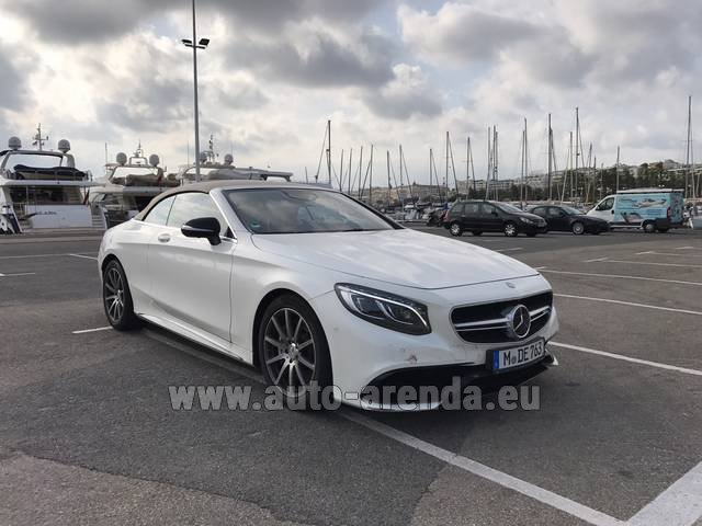 Hire and delivery to Roma-Fiumicino airport the car Mercedes-Benz S 63 Cabrio AMG