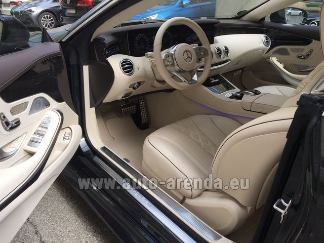Hire and delivery to Roma-Fiumicino airport the car Mercedes-Benz S-Class S 560 4MATIC Coupe
