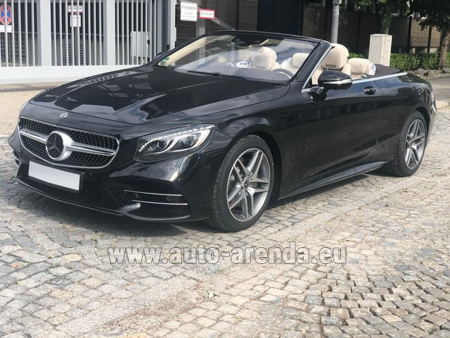 Hire and delivery to Rimini airport the car Mercedes-Benz S-Class S 560 Cabriolet 4Matic AMG equipment