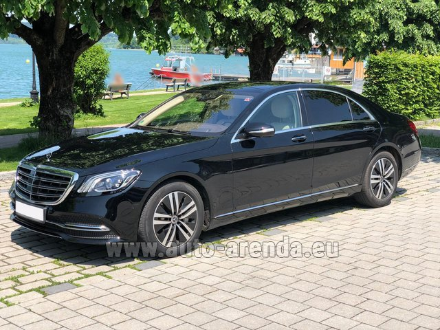 Hire and delivery to Roma-Fiumicino airport the car Mercedes-Benz S-Class S400 Long 4Matic Diesel AMG equipment