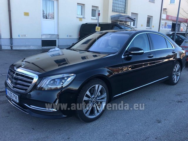 Transfer from Verona to Munich Airport by Mercedes-Benz S-Class S400 Long Diesel 4Matic AMG equipment car
