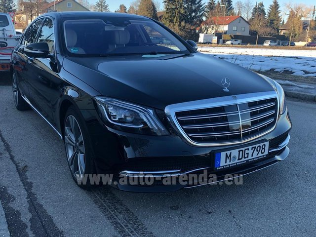 Hire and delivery to Roma-Fiumicino airport the car Mercedes-Benz S-Class S400 Long Diesel 4Matic AMG equipment