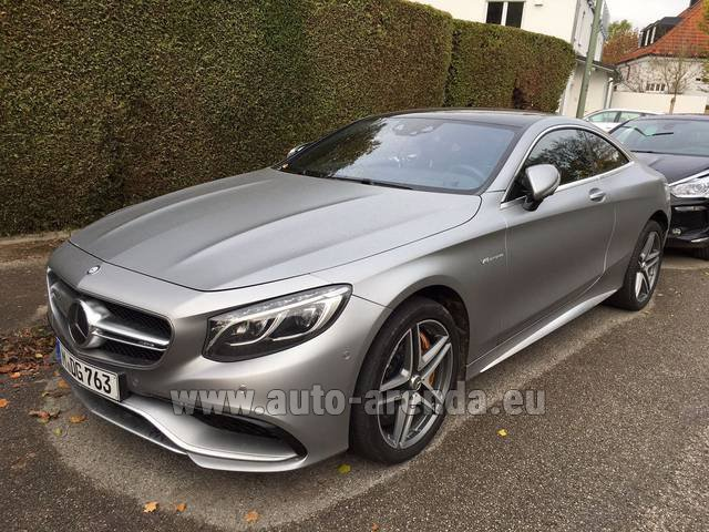 Hire and delivery to Roma-Fiumicino airport the car Mercedes-Benz S-Class S63 AMG Coupe