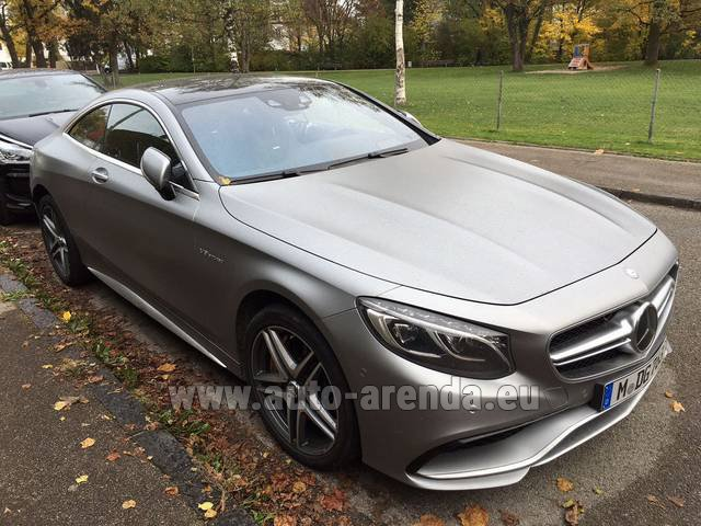 S63 Amg Coupe >> Rent The Mercedes Benz S Class S63 Amg Coupe Car In Portofino