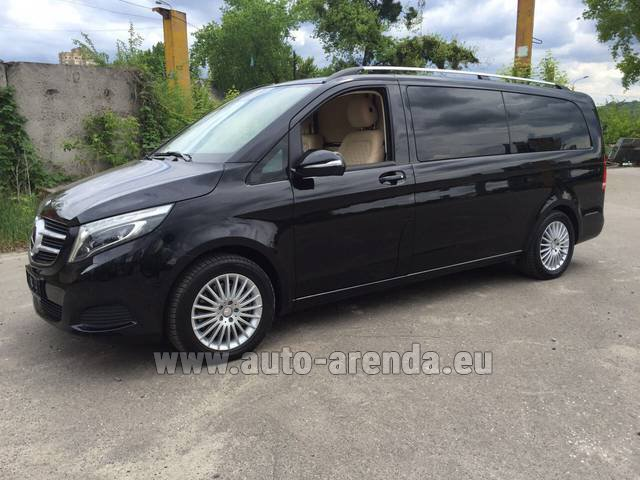Hire and delivery to Roma-Fiumicino airport the car Mercedes-Benz V-Class V Limo Business VAN
